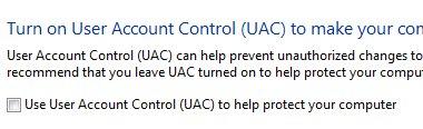 UAC dialogue