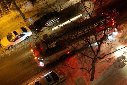 Les pompiers au 3601 Ste-Famille