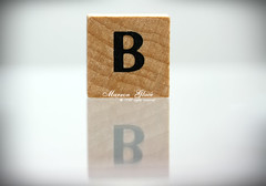 ..{ B is For  Beautiful  .... ( Marron Glac) Tags: wood b macro reflection beautiful canon eos letters letter alphabet marron glac d400 marronglac