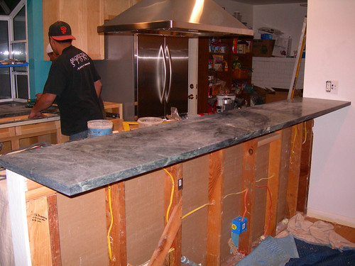 Soapstone Installation - Bar