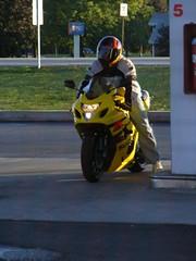 Sportbiker thru back window (dfirecop) Tags: art photography crotch gas gasstation motorcycle biker rocket sportbike mechanicsburg dfirecop