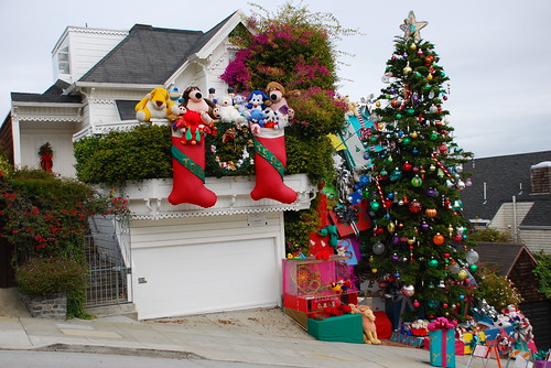 Christmas House detail.