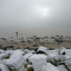Freeing fish on New Year's day (Bn) Tags: winter seagulls mist fog freedom newyear northsea bec wintertime topf100 thaitradition throwing newyearsday songkran bluemussels northseacanal ijmuiden wijkaanzee velsennoord noordzeekanaal 100faves newyearsdance aplusphoto 1stofjanuary boatislandpoetry freeingfish freeingmussels aquietnewyearsday buddhistholidays thethainewyear storyinthebuddhistscripture prolongherlife rockysnowyshore freeingbirdsandfish pierbijwijkaanzee