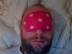 1/365 sleepy (special noodles) Tags: pink selfportrait project beard bed photobooth spot spotty noodles 365 eyemask 365days twitter365