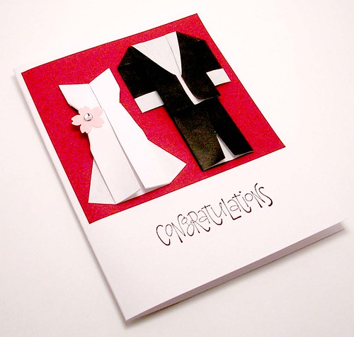 Origami Wedding Card, Origami wedding invitation idea, samples, wedding invitation, flowers, photos