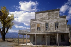 The Once and Future Past or It's All Gone Now (Bodie Bailey) Tags: california sky abandoned clouds landscape desert mining kodachrome movieset laws stevemcqueen 395 oldwest highway395 highway6 nevadasmith droverscottage