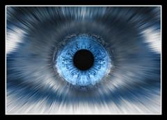 Frosty Look (Jonny Jelinek) Tags: blue iris macro eye ice monochrome photoshop lumix monochrom blau makro eis auge pupil iceblue pupille eisblau regenbogenhaut