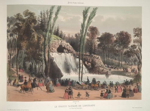 020- Alrededores de Paris- La gran cascada de Lonchamps en el bosque de Boulogne