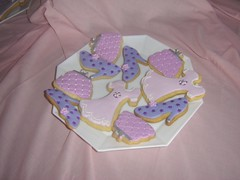 cookie plate (The Whole Cake and Caboodle ( lisa )) Tags: pink newzealand cookies fashion shoe cookie dress purple purse whangarei fondant caboodle hangbag thewholecakeandcaboodle
