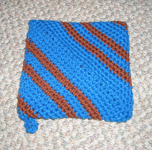Pot Holder of Ravenclaw Colors