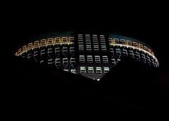 Muzentoren by night... (zilverbat.) Tags: new city windows urban tower architecture modern wow view nightshot toren awesome centre denhaag thehague stad architectuur muzentoren nachtfoto robkrier theresident fluwelenburgwal zilverbat flikkah