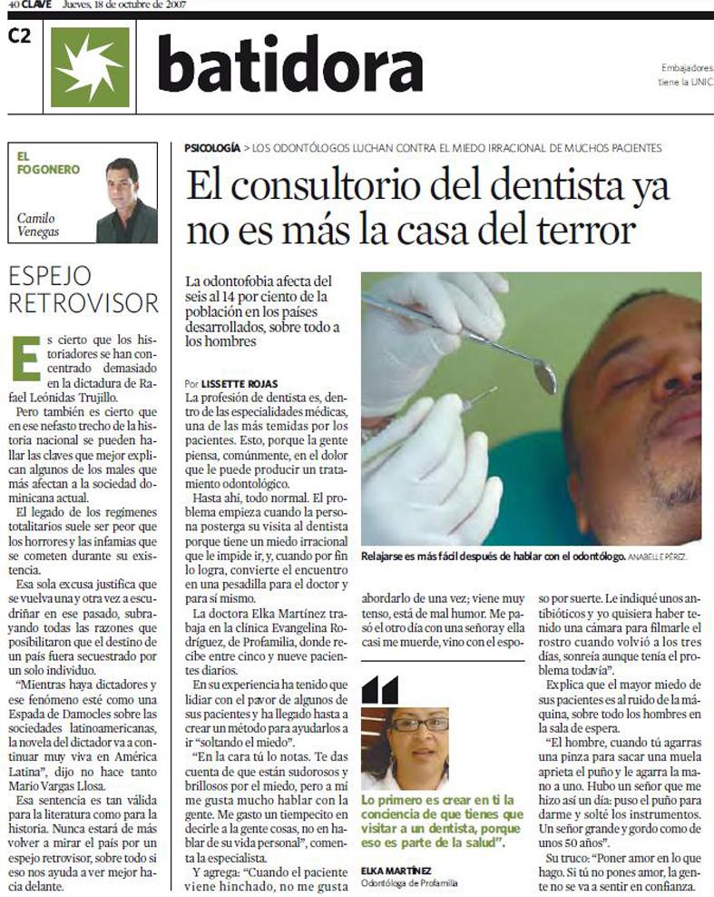 Artículo continuación foto portada. Semanario Clave.