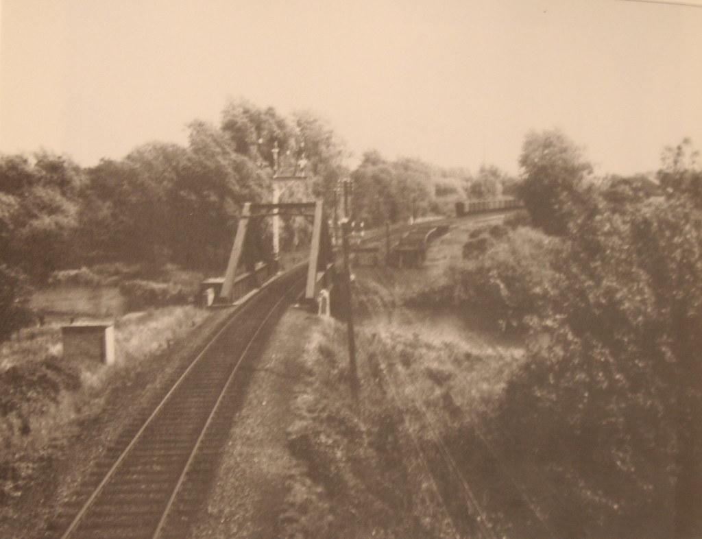 Norwich City Station A-frame bridge 1940's.