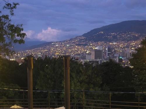 Central Medellin lights up