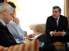 Gordon Brown Daily Telegrah interview (Downing Street) Tags: davos pm primeminister worldeconomicforum gordonbrown dailytelegraph worldeconomy