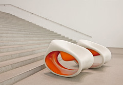 Two Chairs in White and Orange (yushimoto_02 [christian]) Tags: orange abstract art museum architecture canon germany munich mnchen geotagged arquitectura chair europe bellasartes arte chairs kunst exhibition minimal moderne architektur munchen museo minimalism hdr stuhl muenchen sthle ausstellung exposicion pinakothekdermoderne pinakothek minimum architectura kunsthalle pinakothekmoderne stuehle stephanbraunfels exhibicion mywinners platinumphoto colourartaward exploredcanoneosdigitalrebelxsi schneknste bellaarte schoenekuenste