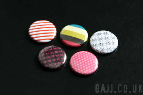 Patterns and stripes badges