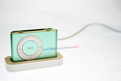 iPod Shuffle - Small is the next big thing (Waseef Akhtar) Tags: white green apple ipod shine strobist