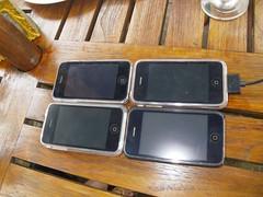 四台iPhone