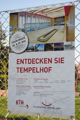 Tempelhof entdecken - Werbung