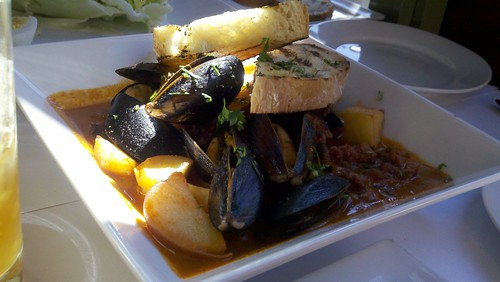 Steamed Mussels with Housemade Chorizo