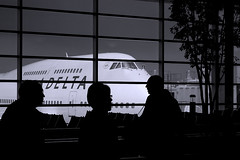 DTW-NRT-MNL (Seven Twenty) Tags: blackandwhite northwest aviation delta terminal boeing airports boeing747 747 dtw northwestairlines 747400 boeing747400 deltaairlines kdtw
