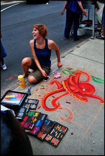 sidewalk pastels