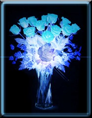 BLUE CRYSTAL ROSES (fantartsy JJ *2013 year of LOVE!*) Tags: flowers blue roses macro ice nature beauty photoshop amazing shots frame sensational bouquet collaborative photoart deepblue cubism blueribbonwinner platinumphoto amazingshots superbmasterpiece frhwofavs thisisexcellent proudshopper theperfectphotographer
