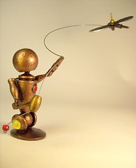 Satellite Kite Flying Robot Statue Scene out of Wood 2 (Builders Studio) Tags: wood fiction boy summer people sculpture kite man guy art classic statue metal trek toy person star robot fly flying wire punk comic technology geek mechanical tech metallic space painted satellite machine delta artificial scene science retro steam nasa replica ia figure scifi string pulp wars figurine base android prop diorama mecha droid geekery bot mech robo automaton steampunk robotic cyclon