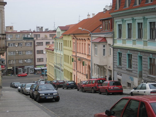 Colorful houses in Brevnov, Prague
