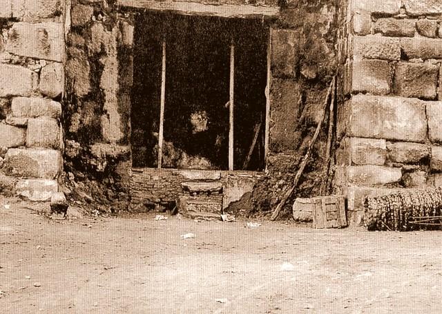 Puerta de Alcántara durante la restauración