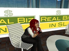 Cybergrrl Oh hosting REAL BIZ in SL