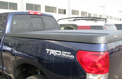 Side view of Tundra's Duracover tonneau.