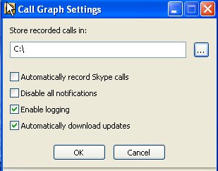 call graph parametre