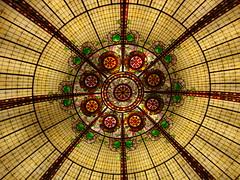 Painted glass ceiling (ziad 1) Tags: las vegas paris art glass hotel painted ceiling nouveau bouncingball anawesomeshot