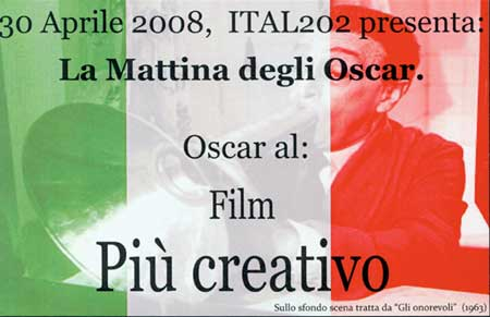 Image of Oscar card for best Special Effects