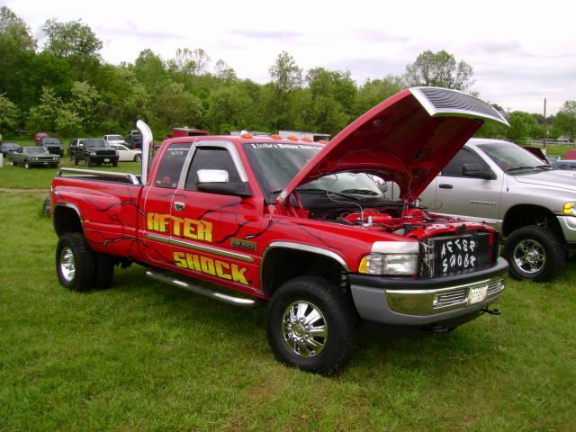 4x4 pickup dodge mopar custom aftershock dodgeram ram3500 cumminsturbodiesel dualie extendedcab boonsboromd masondixondragway midatlanticmoparmeet