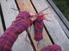 Folded cuff and next arm-warmer