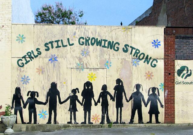 Hartsville Girl Scout mural
