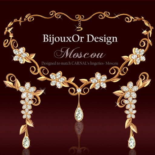 Moscou gold set white