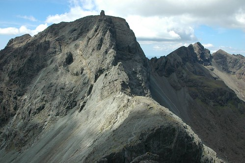 The route up to the Inaccessible Pinnacle