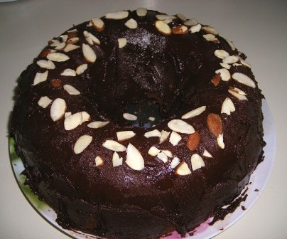 Sourdough Chocolate Almond Bundt Cake
