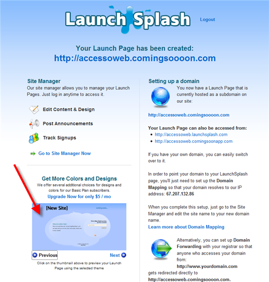 launch splash admin