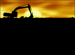 I love the Light & I dig the Sun (Untitled blue) Tags: sunset orange sun silhouette yellow sunrise construction dubai poem desert philosophy caterpillar conceptual fabulous metaphor excavator untitledblue athousandwords photophilosophy conceptphotos infinestyle untitlism theunforgettablepictures