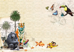 Welcome to jungle (collage digital) (Javier Piragauta) Tags: art animal collage digital photoshop vintage design colombia arte raton super retro jungle welcome javier diseo afiche vectorial perez vetor exotico piragauta