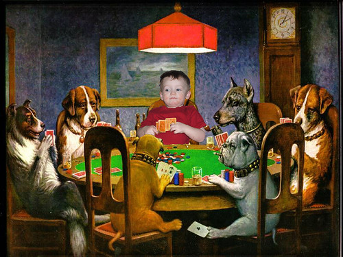 Aaries Playing Poker