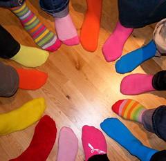 182/365 - Group sox... (ElbtheProf) Tags: feet colors socks toes colours girlfriends multicolours project365 colourartaward damniwishidtakenthat colorsinourworld