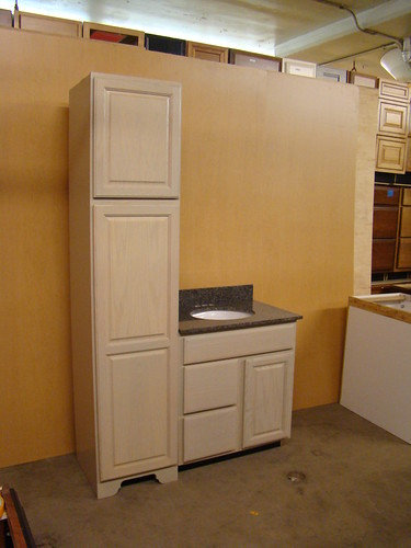 details about kraftmaid oak bathroom vanity sink base cabinet set 48