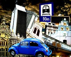 Medellin!! (Jess Gutirrez Gmez) Tags: blue urban church azul buildings de design la colombia metro jesus edificio beetle iglesia style ciudad signals gutierrez urbano escarabajo medellin cultura planetario palacio seales sabaneta coltejer sonydscw90
