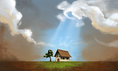 Ilustrao do Prmio Crea do meio ambiente (ilustracionamentador) Tags: sky house tree art painting paint arte victor draw ceu ilustrao ilustration desenho ilustrator pintura premio ambiente meio crea clonds victorjam